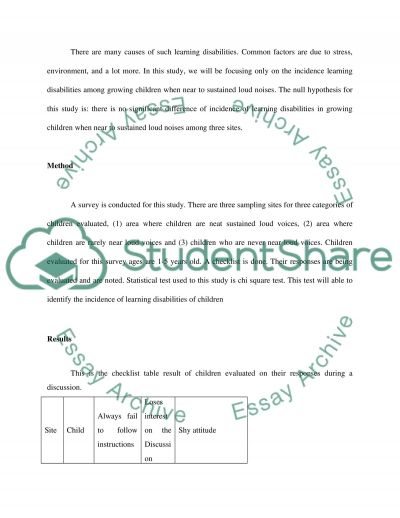Loud Noises Among Three different Sites essay example