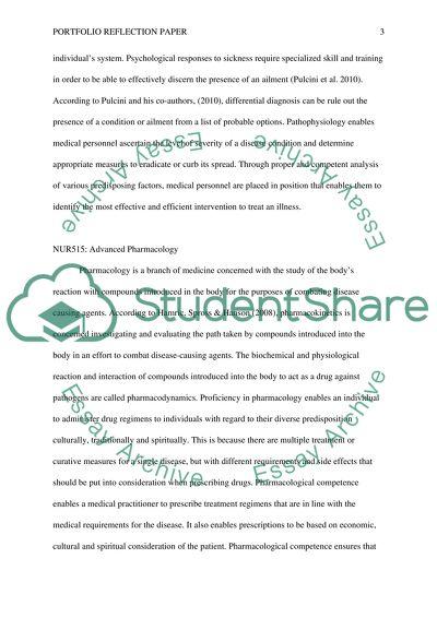 Portfolio Reflection Paper