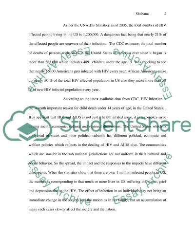 Children with HIV in the United States essay example