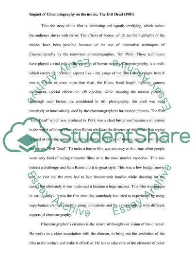 Argumentative Essay Topics For High School Impact Of Cinematography On The Movie Custom Essay Paper also Yellow Wallpaper Analysis Essay Impact Of Cinematography On The Movie Essay Example  Topics And  Essay On Healthy Eating