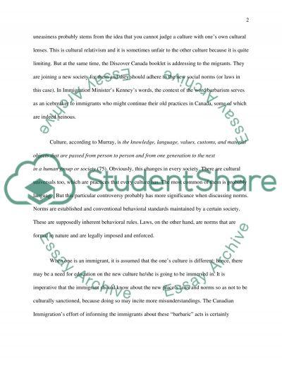 Sociology 101 - Essay
