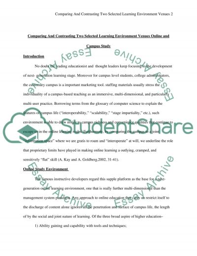 Comparing And Contrasting Two Selected Learning Environment Venues essay example