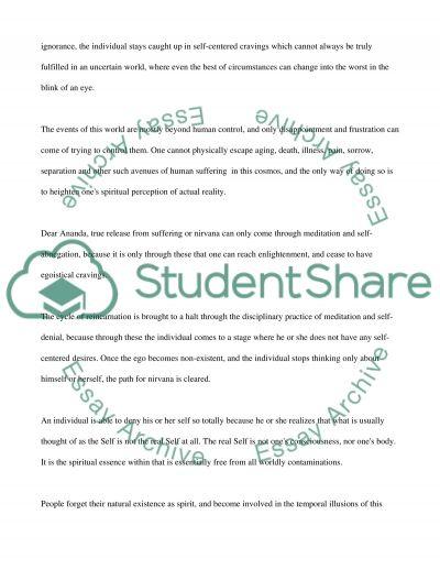 Eastern Philosopher Letter essay example