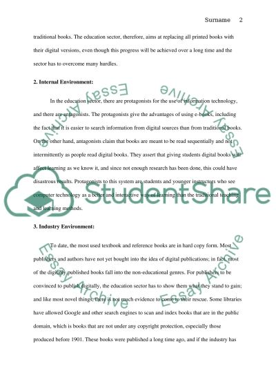 Information Technology: Use in the Education Sector Research Paper example
