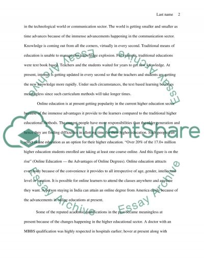 Higher Education Industry: How have colleges and university changed over the past 20 years essay example