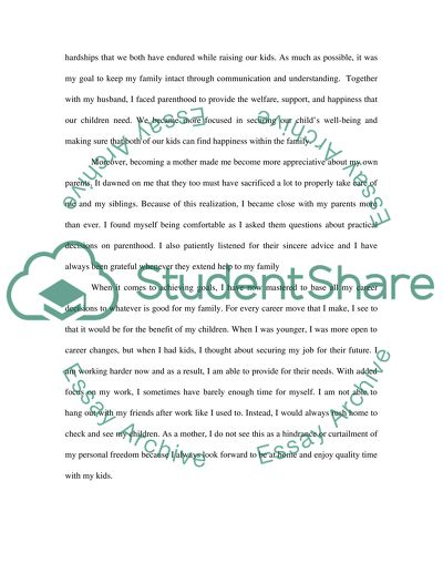 a change in your life essay