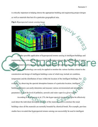 Hyperspectral Remote Sensing Technology in Intelligent Buildings & Engineering