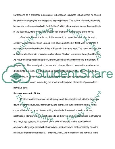 How To Write An Essay For High School Postmodernism In Julian Barnes Flauberts Parrot High School Admissions Essay also Sample Essay Thesis Postmodernism In Julian Barnes Flauberts Parrot Essay Essays For Kids In English