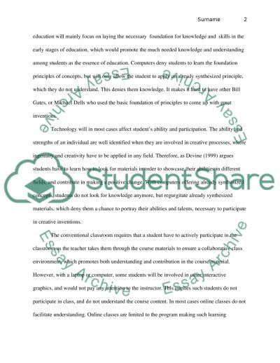 Application of Technology in Education essay example