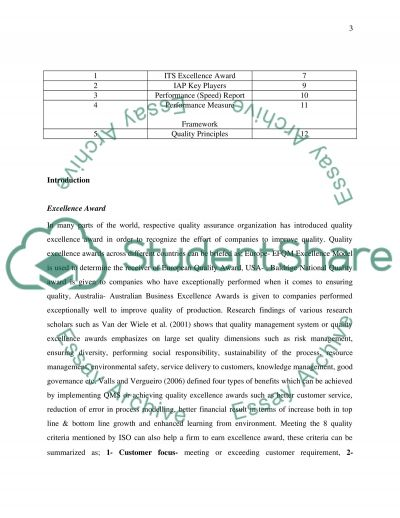Application of Implementing QMS Essay example