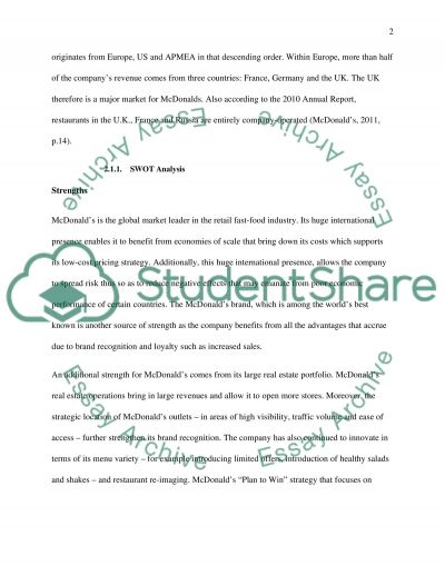 Operations Strategy essay example