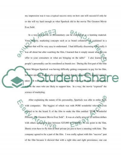 Pom Wonderful Paper essay example