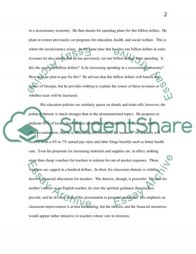 State of the State Speech essay example