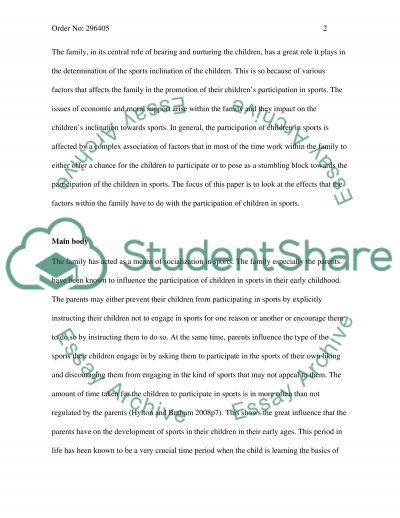 Sport Development essay example