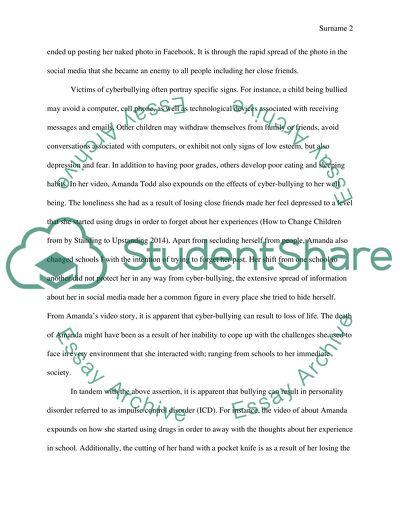 Cyber bullying essays