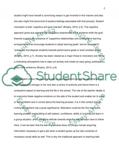 Class room management: Two case studies essay example