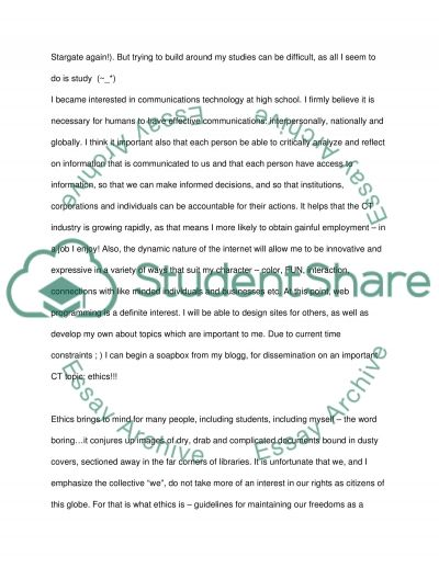 Communications Technology essay example