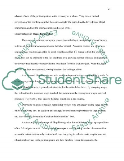 Immigration(advantages or problems) essay example