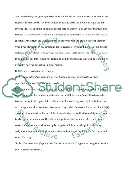 Demonstrate the evidence of activities Essay example