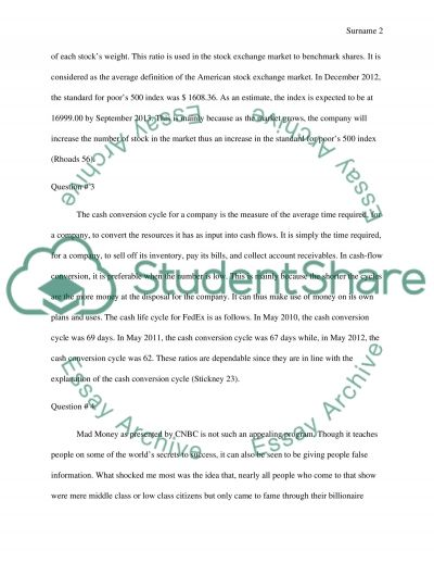 Financial management (answers on questions) Essay example