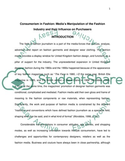 Medias Manipulation of the Fashion Industry