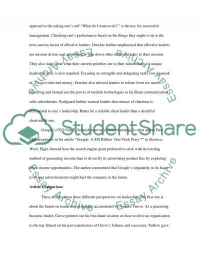 Organization behavior class in the news report essay example