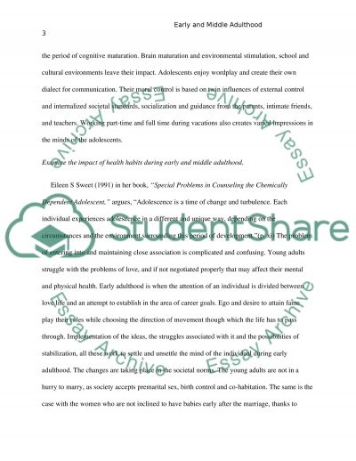 early and middle adulthood essay example topics and well written   text preview