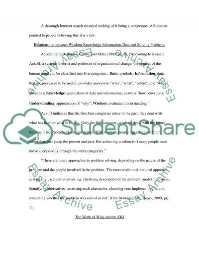 Problem Solving essay example