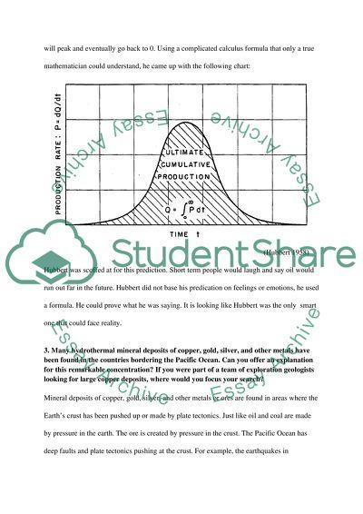 Geology Week 9 questions