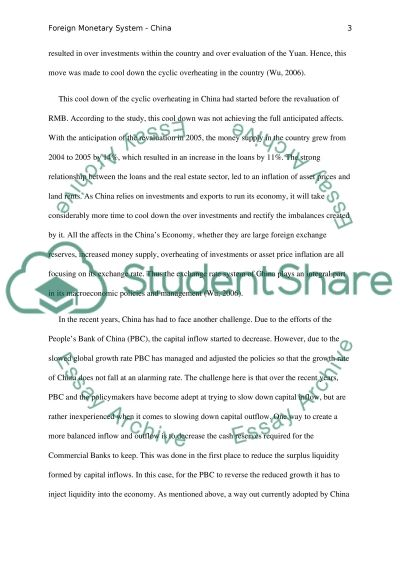 Foreign Monetary System essay example