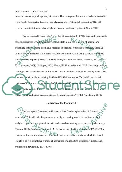 Conceptual Framework: Financial Reporting Essay example