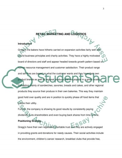 Retail Marketing and Logistics Case Study essay example