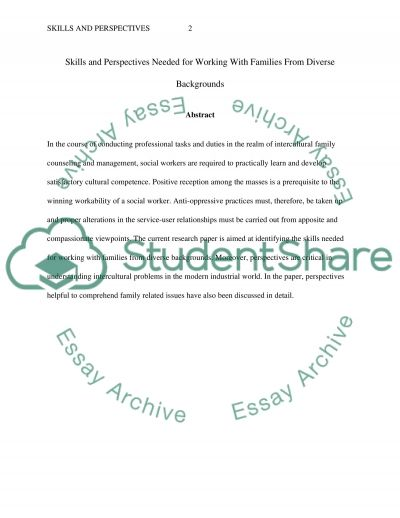 working with family essay