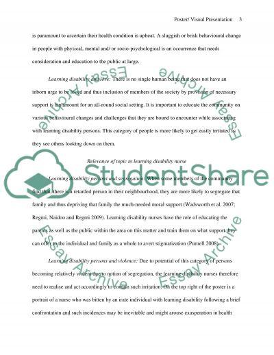 Poster / Visual Presentation essay example