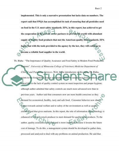 Quality Control essay example