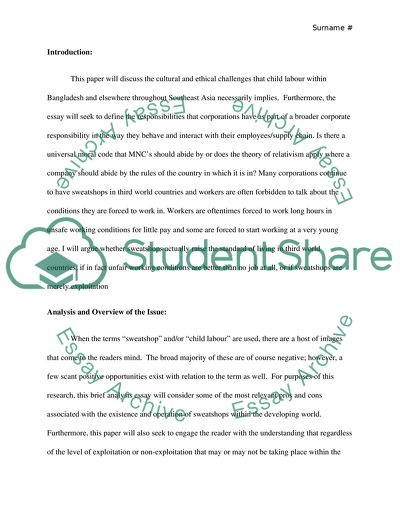 child labour in bangladesh essay example  topics and well written  child labour in bangladesh