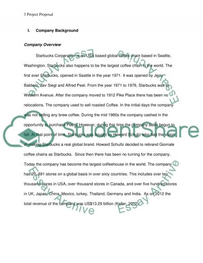 Project (Starbucks corporation) final Assignment example