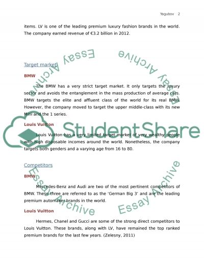 Description And Comparison Of Two Companies (Part III) Research Paper example