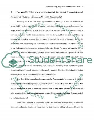 Homosexuality, prejudice, and discrimination Essay example