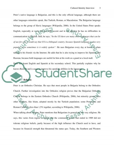 cross cultural interview and summary essay Cross cultural perspectives essay cross-cultural perspectives michella amonson eth/316 january 16, 2014 mr harralson cross-cultural perspectives this paper is an overview and analysis of the ethical perspective and cultural issues that a global organization faces when interacting outside the united states.
