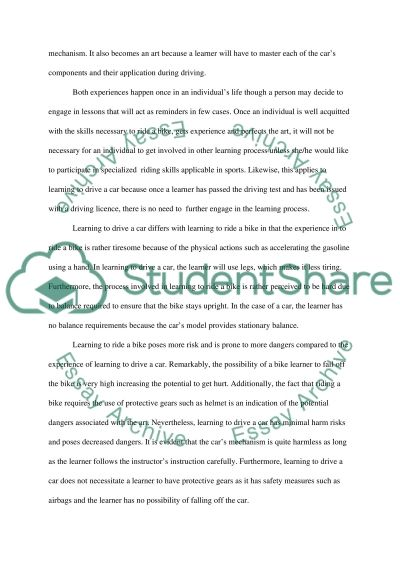 essay about learning
