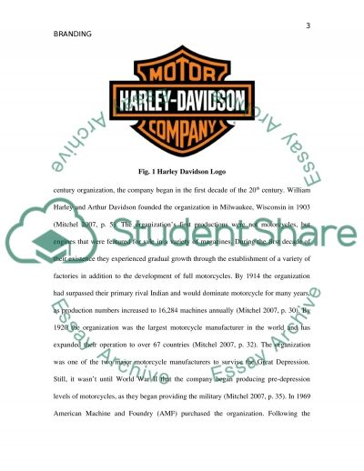 Harley Davidson Branding essay example