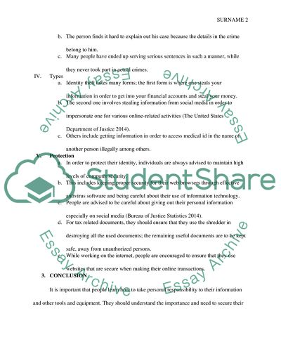 Identity Theft Essay Example  Topics And Well Written Essays    Identity Theft