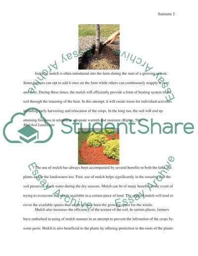 A landscape material - Mulch (Organic)