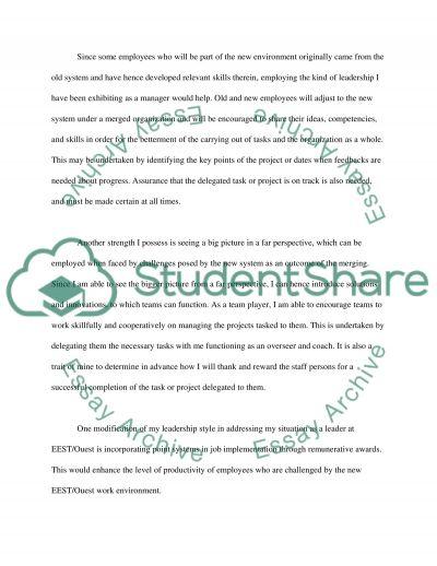 Leadership Style essay example