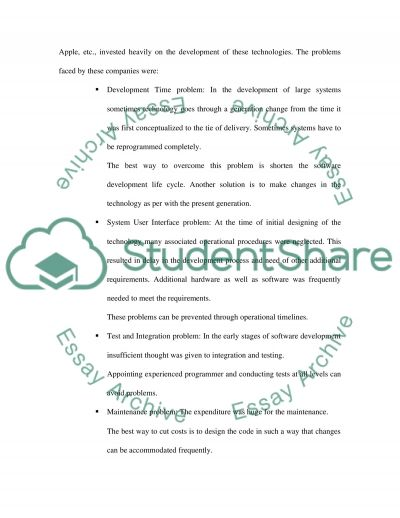 Software engineering essay example
