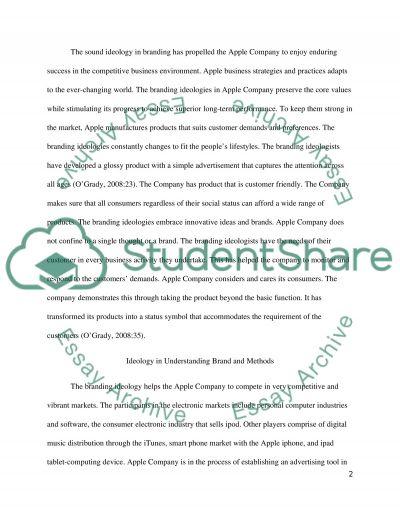 Ideology in Branding essay example