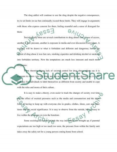 The Roles of Psychology and Sociology in Drug Abuse essay example
