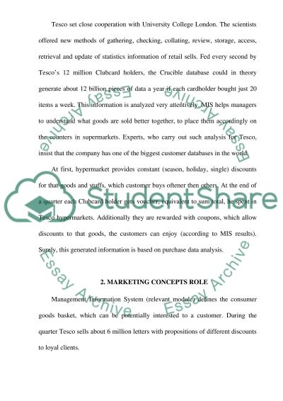 Retail Marketing (Britain hypermarket net Tesco) essay example