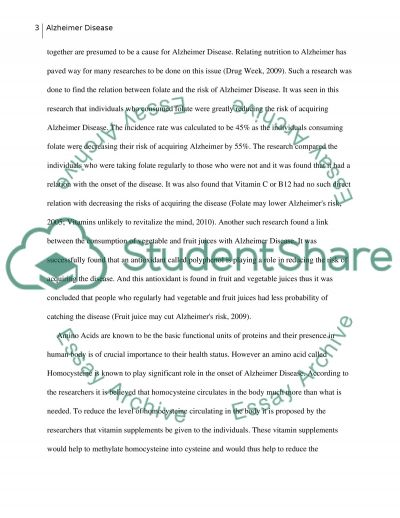 Alzheimers disease and relationship to nutrition and hormone essay example